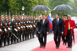 Danilo Turk  with president of Azerbaijan Ilham Alijev (Courtesy photo)