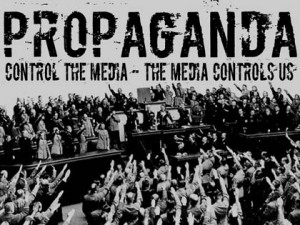 TV propaganda (Photo - lacithedog.wordpress.com)