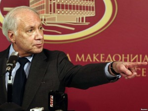 Matthew Nimetz in Skopje (Courtesy photo - RFE)