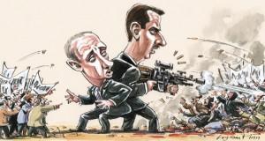 Putin i Assad (Courtesy illustration)