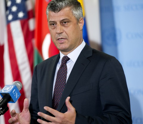 "Hashim Thaci for ""Webpublicapress"": ""The agreements should be respected ..."" (UN Photo/Mark Garten)"