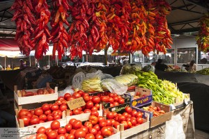 Food bazar in Bitola, North Macedonia, Europe (Courtesy photo for education only)