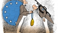 Nobelova nagrada za mir EU od strane EU (Courtesy cartoon)