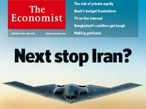 """Next stop Iran?"" (Front page from The Economist - 2012)"