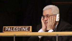 Palestinian president Mahmood Abaz at the UN (Courtesy photo UN)