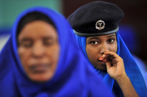 A.U. Forces Hold Training Sessions for Somali National Police (UN Photo/Tobin Jones)