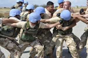 UN Peacekeepers in action (Courtesy Facebook)