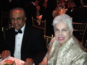 Thalif Deen (L) with his spouse on UNCA Dinner 2013 (Photo by Webpublicapress)