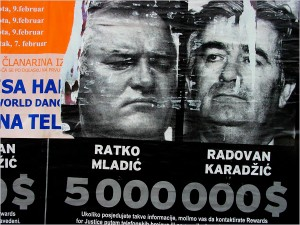 Mladic and Karadzic on placate (Photo archive WPP for education only)