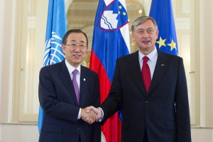 Secretary-General Meets President of Slovenia Secretary-General Ban Ki-moon (left) meets with Danilo Türk, President of the Republic of Slovenia. 20 July 2012 (UN photo by Eskinder Debebe)