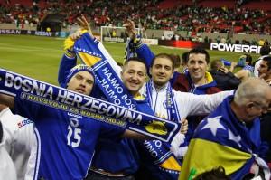 Bosnian National Team fans from USA  (Photo by Hajat Avdovic - Webpublicapress)