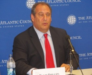 David Phillips at the Atlantic Council event (Courtesy photo for education only by Presheva Jone)