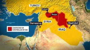 Middle East TV map (TV image)