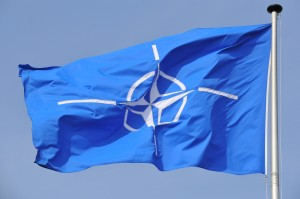 NATO flag flying at NATO Headquarters in Brussels.  (Courtesy photo for education only)