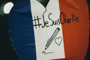 Je suis Charlie on a French flag colors (Courtesy image for education only)