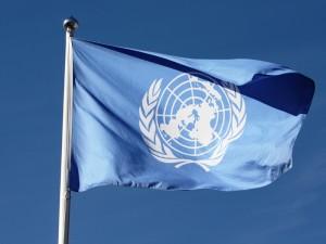 UN flag (public domain photo fror education only)
