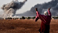 Syria - war near Turkish border (Courtesy TV image CBS - for education only)