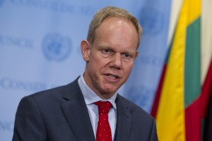 Matthew Rycroft, Permanent Representative of the United Kingdom to the United Nations (Photo by Loey Felipe)