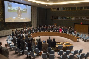 Minute of silence for the victims in Srebrenica, UN Security Council, 08 July 2015 (UN Photo/Eskinder Debebe)