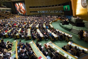 A view of the General Assembly Hall - 28 September 2015 (UN photo by Loey Felipe)