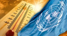 UN flag and climate change (Courtesy photo montage for education only)