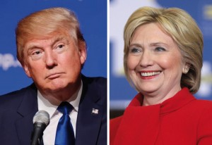 Donald Trump and Hillary Clinton (Photo montage for education only)