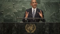 Barack Obama, President of the United States of America, addresses the general debate of the General Assembly's seventy-first session. 20 September 2016 (UN photo by Cia Pak)