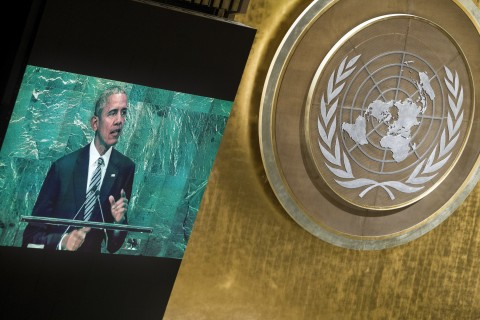 Barack Obama, President of the United States of America, addresses the general debate of the General Assembly's seventy-first session. 20 September 2016 United Nations, New York (UN photo by Manuel Elias)