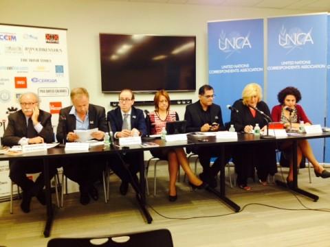 UNCA Panel on Press freedom and UN Special Representative  on media freedoms (Photo Erol Avdovic - Webpublicapress)
