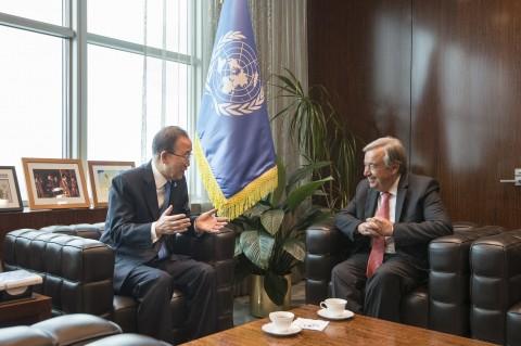 Secretary-General Ban Ki-moon meets with Mr. Antonio Guterres, Secretary-General-designate (UN photo by Iskender Debebe)