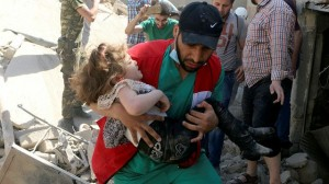 Syrian horror  (BBC  TV image photo for education only)