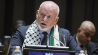 Peter-Thomson UNGA president  wears Palestinian flag in solidarity with the International Day of Palestine, UN-Photo