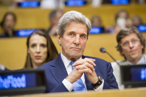 """John Kerry, Secretary of State of the United States of America, attends the screening of the documentary film """"Before the Flood"""". 20 October 2016 United Nations, New York (UN photo by Rick Bajornas)"""