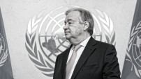 António Guterres, new Secretary-General of the United Nations, in his office on his first day at work. 03 January 2017 United Nations, New York (UN photo by Mark Garten)