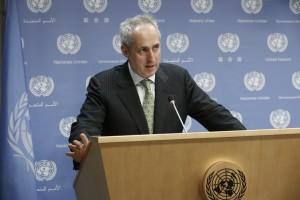 Stephane Dujarric UN spokesman (UN Photo/Evan Schneider)