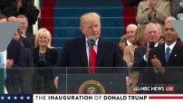President Trump inaugural address Capitol Hill January 20 - 2017 (TV image NBC News for education only)