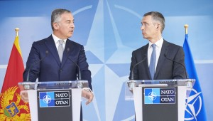 Former Prime-Minister of Monte Negro Milo Djukanović (left) and NATO Secretary General Jens Stoltenberg 2015 in Brussels (NATO photo courtesy)