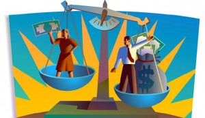 Women pay disparity (Photo illustration WPP file)