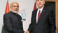 The Prime Minister, Narendra Modi with the President of Turkey, Recep Tayyip Erdogan in a bilateral meeting, on the sidelines of G20 Summit 2015, in Turkey on November 16, 2015.(Courtesy photo for education only)