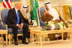 US President and King Salman bin Abdulaziz of Saud Arabia meet during the Riyadh Summit (May 20-21). Credit: Public domain via Wikimedia Commons