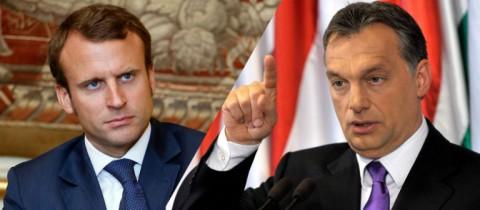 Macron vs. Orban on European Union concept (photo illustration - for education only)