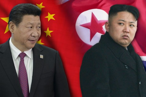 China and North Korea leaders (photo montage for education only)