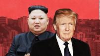 Donald Trump - Kim Jong Un 'war of words' (CNN photo illustration)