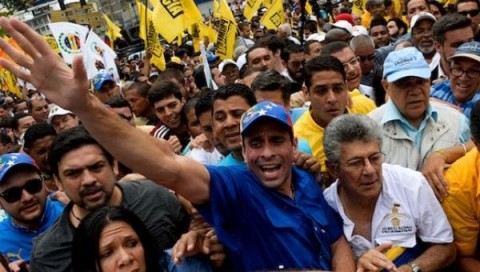 Venezuelan opposition protest (Courtesy photo for education only)
