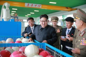 North Korean leader Kim Jong Un visits a factory in a photo released 2017. by the state-run Korean Central News Agency KCNA (WPP for education only)