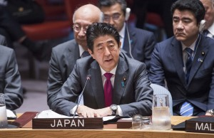 Shinzo Abe prime minister of Japan (UN photo by Amanda Voisard - 2016)