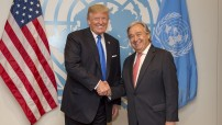 Secretary-General António Guterres meets with Donald Trump, President, United States (UN photo by Rick Bajornas)