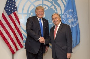 Secretary-General António Guterres meets with Donald Trump, President, United States (UN photo)
