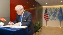 Donald Trump in UN 19 September 2019 (UN Photo/Rick Bajornas)