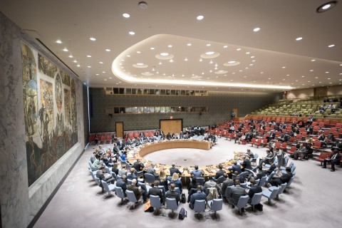 A wide view of the Security Council Council meeting on the Situation in Libya. 19 April 2017 United Nations, New York (UN photo by Rick Bajornas)